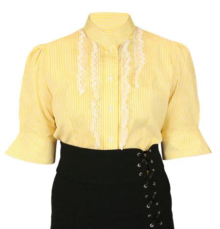 Louisa Blouse - Yellow Stripe