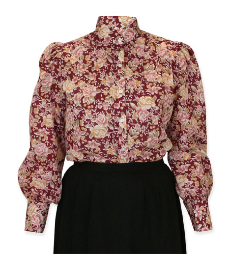 Somerset Blouse - Burgundy Floral