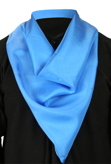 Premium Silk Neckerchief - Blue