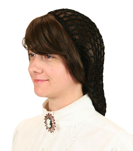 Vintage Ladies Black Hair Net | Romantic | Old Fashioned | Traditional | Classic || Hair Net - Black