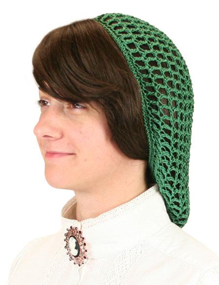 Victorian Ladies Green Hair Net | Dickens | Downton Abbey | Edwardian || Hair Net - Hunter Green
