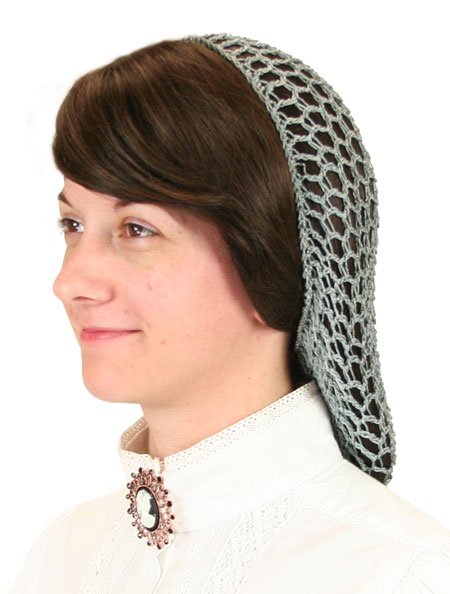 1800s Ladies Gray Hair Net | 19th Century | Historical | Period Clothing | Theatrical || Hair Net - Gray