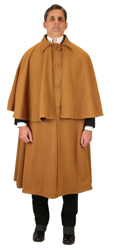 Inverness Cape - 100% Wool - Caramel