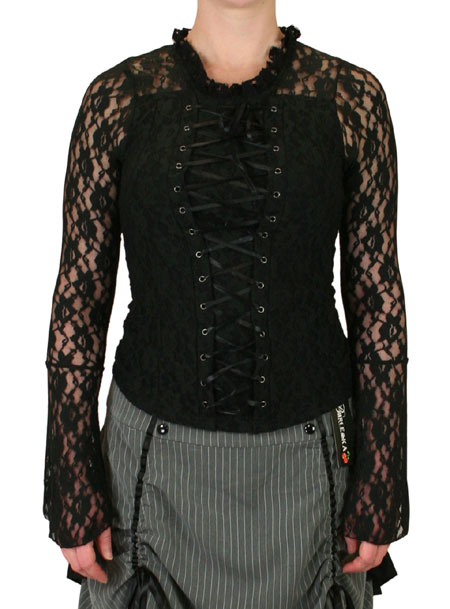 Roxie Lace Top - Black