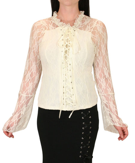 Roxie Lace Top - Cream