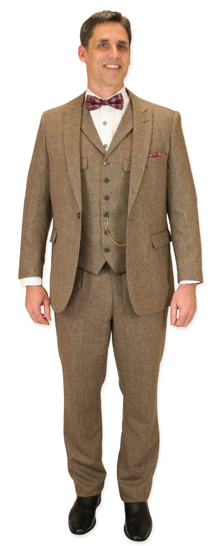 Vintage Mens Tan,Brown Solid Suit | Romantic | Old Fashioned | Traditional | Classic || Tomlinson Tweed Suit - Tan