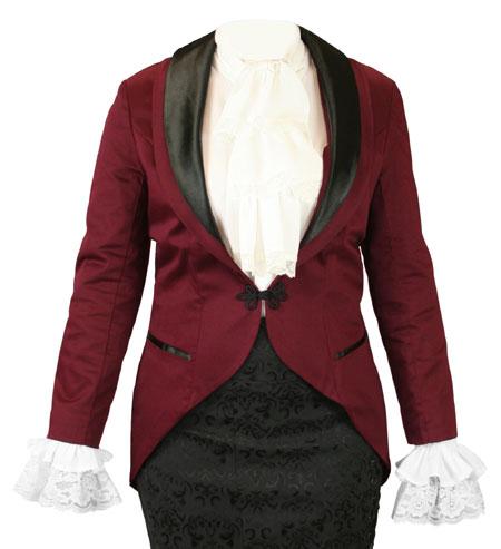 Calliope Tailcoat - Burgundy