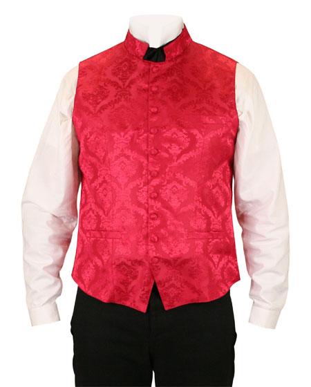 Vaughan Waistcoat - Red