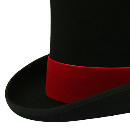 Vintage Mens Red Velvet Hat Band | Romantic | Old Fashioned | Traditional | Classic || Hat Band - Red Velvet