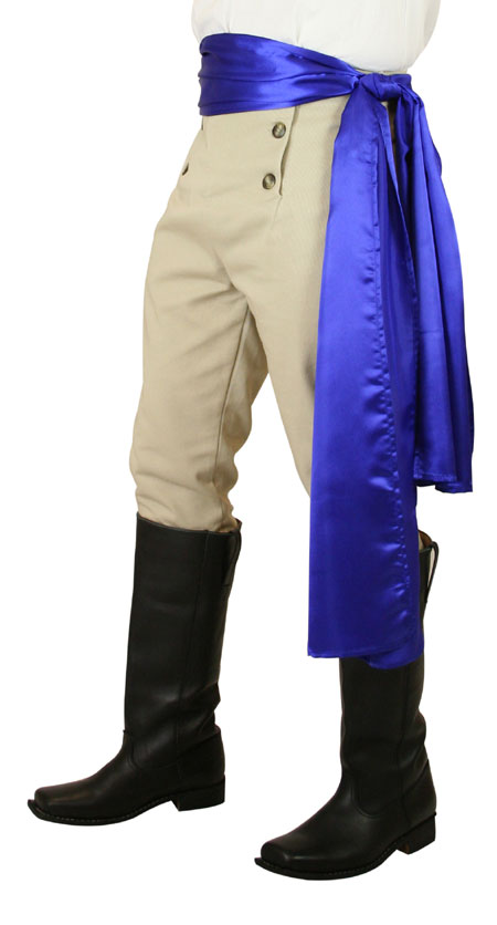 Victorian Mens Blue Solid Sashe | Dickens | Downton Abbey | Edwardian || Pirate Sash - Blue