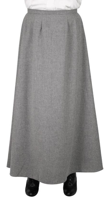 Walking Skirt - Gray Wool