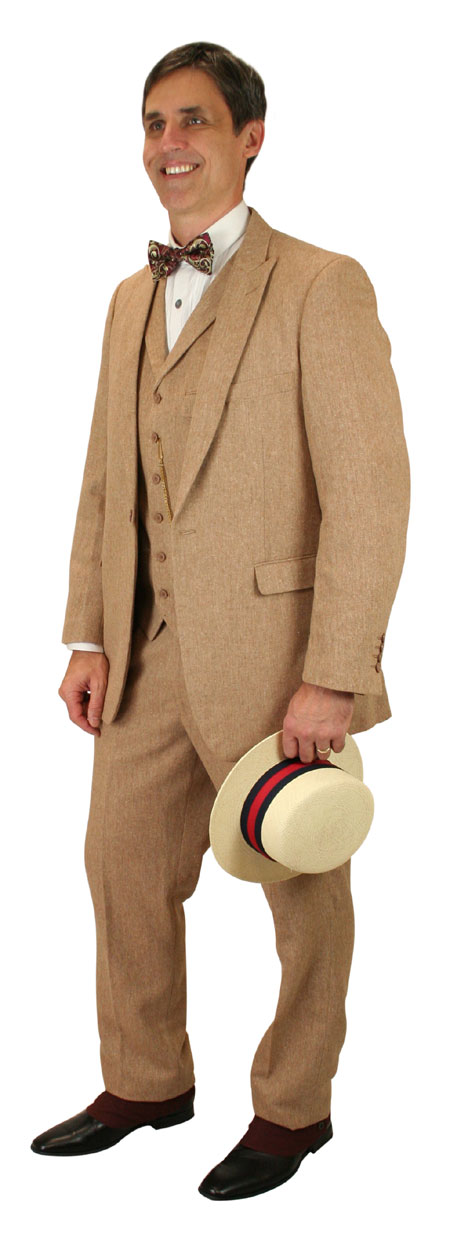 Vintage Mens Tan,Brown Solid Suit | Romantic | Old Fashioned | Traditional | Classic || Tomlinson Tweed Suit - Light Brown