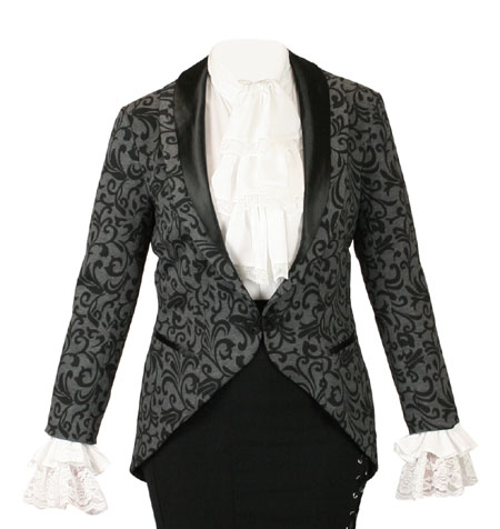 Calliope Tailcoat - Gray Floral