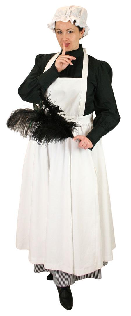 Steampunk Ladies White Cotton Apron | Gothic | Pirate | LARP | Cosplay | Retro | Vampire || Twill Ladies Apron