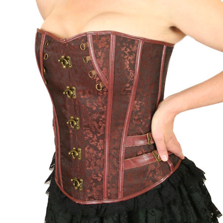 Felicity Overbust Fashion Corset - Brown