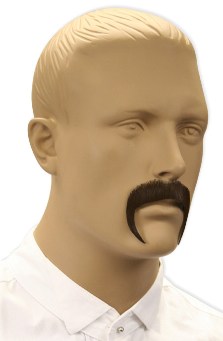 1800s Mens Brown Natural Mustache | 19th Century | Historical | Period Clothing | Theatrical || Diego Mustache - Brown