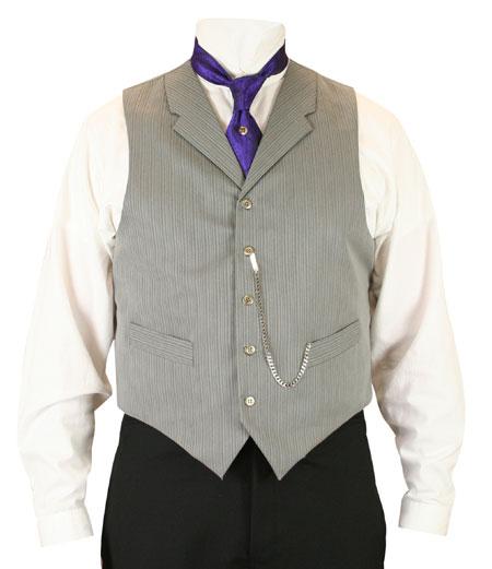 Morton Vest - Gray Stripe