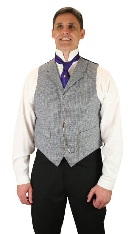 Wedding Mens Blue Check,Geometric Notch Collar Dress Vest | Formal | Bridal | Prom | Tuxedo || Woodleigh Vest - Navy Check