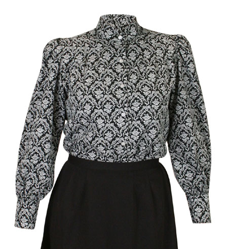 Rosedale Blouse - Black and White