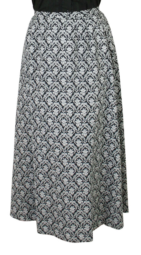 Rosedale Walking Skirt - Black and White