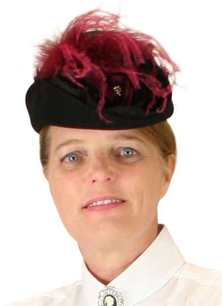 Victorian Ladies Burgundy Wool Felt Small French Hat | Dickens | Downton Abbey | Edwardian || Victorian Ladies Hat - Burgundy