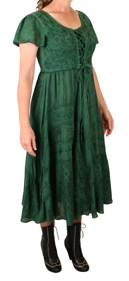 Persephone Cap Sleeve Dress - Green