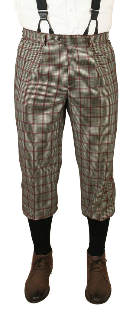 Gallagher Knickers - Gray Plaid