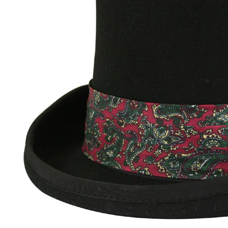 Vintage Mens Burgundy,Red Hat Band | Romantic | Old Fashioned | Traditional | Classic || Hat Band - Burgundy Paisley