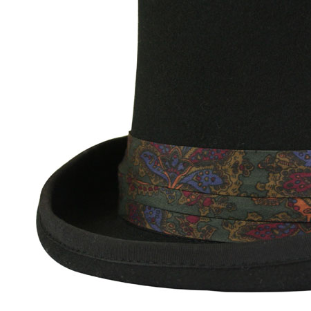 Vintage Mens Green Hat Band | Romantic | Old Fashioned | Traditional | Classic || Hat Band - Green Paisley