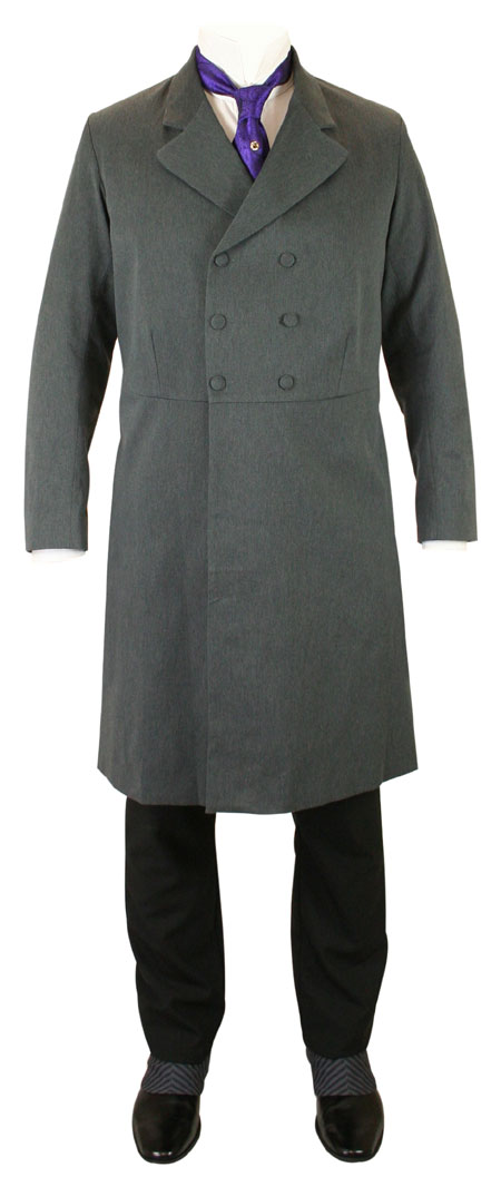 Double-Breasted Frock Coat - Charcoal