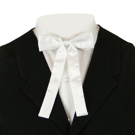 Deluxe Western Bow Tie - White