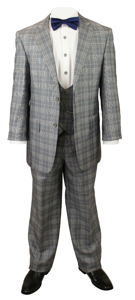 Garrett Plaid Suit - Gray