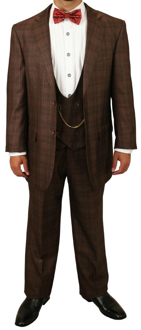 Garrett Plaid Suit - Chestnut