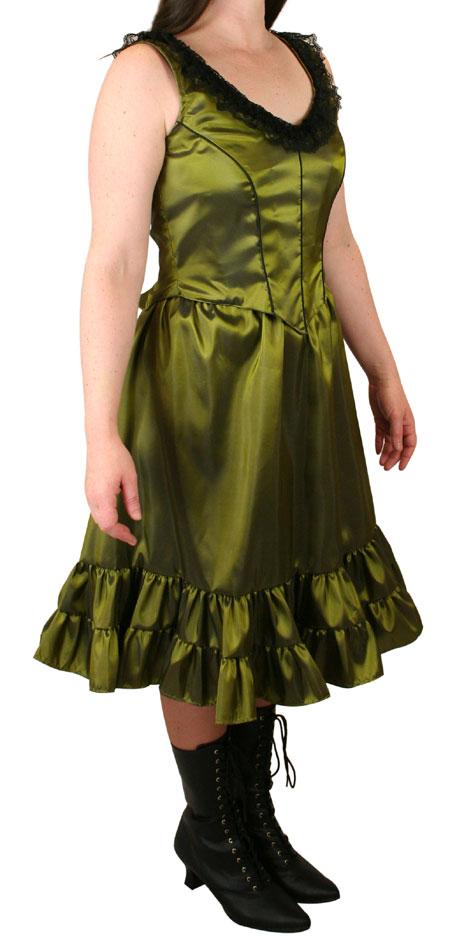 Delilah Saloon Dress, Peridot Green