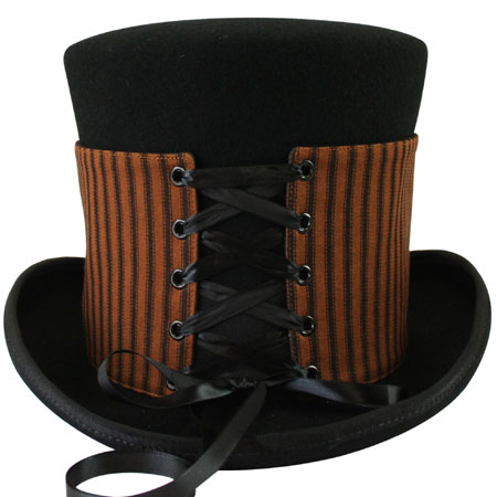 1800s Mens Brown,Black Cotton Spats | 19th Century | Historical | Period Clothing | Theatrical || Reversible Hat Spat (Tall) - Chadwick/Black