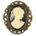 Cameo Pin - Ivory and Antique Gold