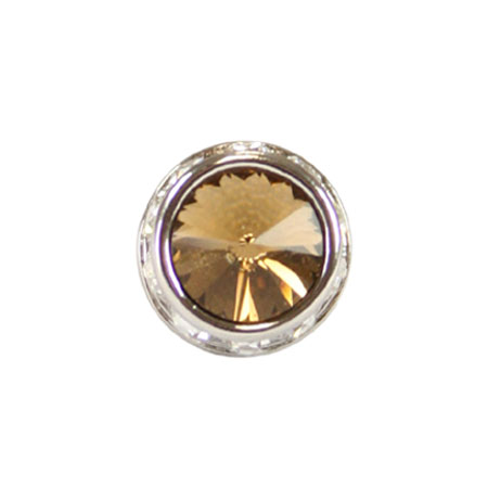 Steampunk Mens Gold Metal Tie Tack | Gothic | Pirate | LARP | Cosplay | Retro | Vampire || Silver Faceted Tie Tack - Topaz