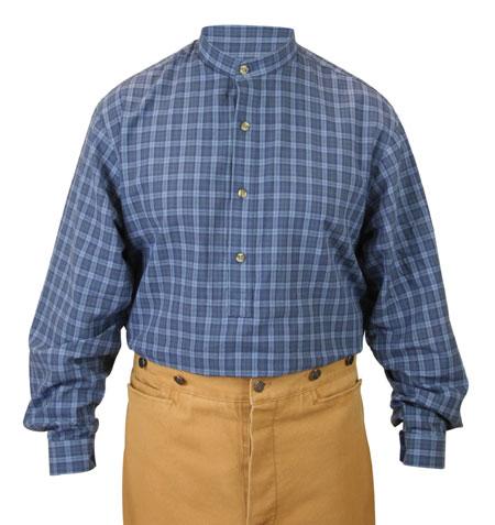 Lawton Shirt - Cobalt Plaid