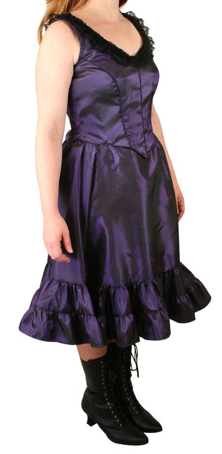 Delilah Saloon Dress, Amethyst