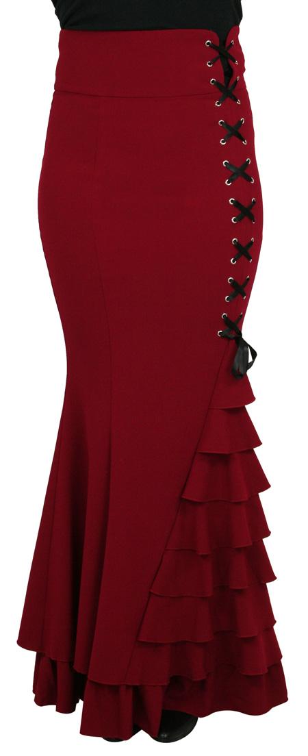 Vivien Fishtail Skirt - Red