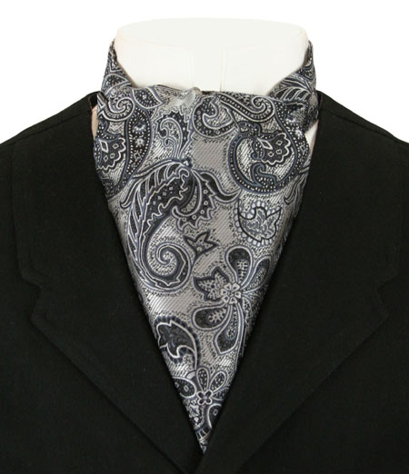 Cosmopolitan Ascot - Silver and Black Paisley