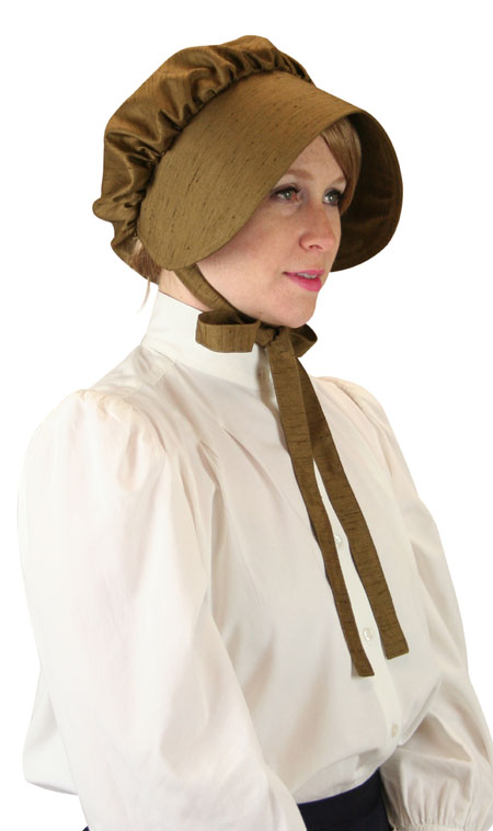 Wedding Ladies Brown Solid Bonnet | Formal | Bridal | Prom | Tuxedo || Clarissa Bonnet - Brown Satin