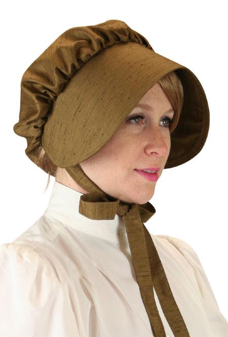 Clarissa Bonnet - Brown Satin