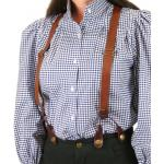 Ladies Suspenders - Brown Leather