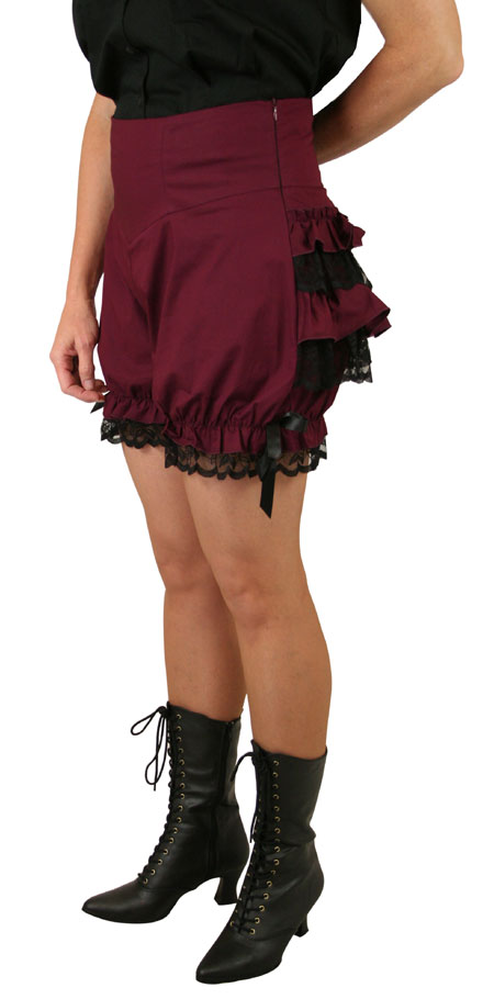 Trixie Bloomer Shorts - Burgundy