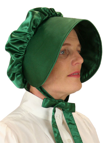 Satin Bonnet - Emerald