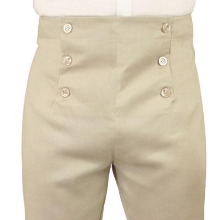 Regency Fall Front Trousers - Stone