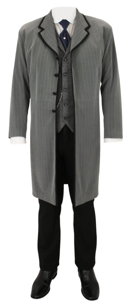 Carrington Frock Coat - Gray Stripe