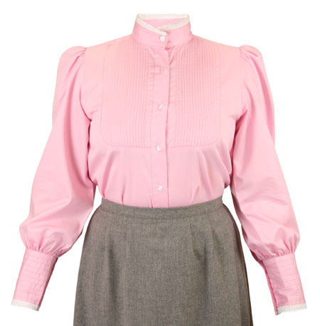 Muriel Pleated Blouse - Pink