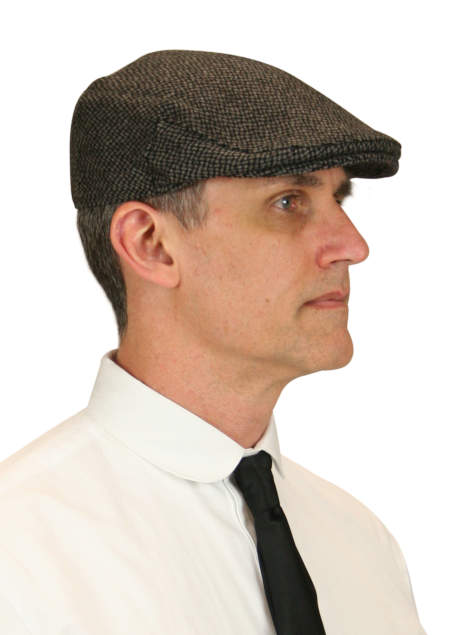 Vintage Mens Gray Wool Cap | Romantic | Old Fashioned | Traditional | Classic || Ivy Cap - Pebble Gray Wool
